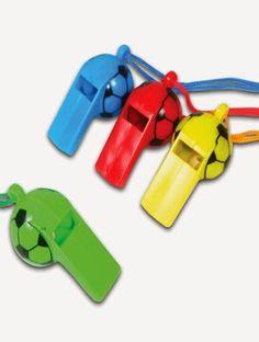 Originele traktatie voor een voetbal kinderfeestje: voetbal fluitjes! Usb Flash Drive, Toys, Car, Activity Toys, Automobile, Clearance Toys, Gaming, Games, Autos