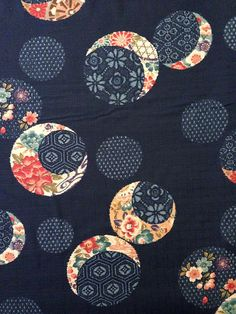 Kobayashi Indigo Temari Japanese dobby cotton fabric by kimonomomo design Japanese Quilt Patterns, Japanese Quilts, Japanese Textiles, Japanese Art, Asian Quilts, Medallion Quilt, Flower Quilts, Fabric Pictures, Blue Quilts