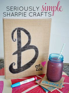 Add burlap home decor to your house with these easy DIY tutorials using Sharpie Oil Based Paint Markers. They make crafting a breeze!