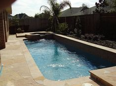 pool with raised spa for small yards | ... Pools : Swimming Pools Houston TX : Aquascapes Pools and Spas