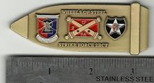 2/17 FIELD ARTILLERY, 2ID INFANTRY DIV FA ARMY BULLET SHAPED CHALLENGE COIN RARE