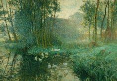 Emile Claus(Belgian, 1860-1924)  Ducks in september, 1913  Oil on canvas,82 x 117 cm
