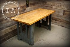 Vintage Industrial Butchers Block Cast Iron by IndustrialArtifact
