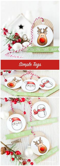 Simple tags give Christmas gifts a personal touch without taking up lots of time to make. Find out more by clicking on the following link: http://limedoodledesign.com/2015/10/simple-tags/