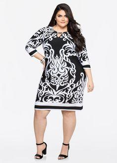 Mixed Print Tunic Dress Mixed Print Tunic Dress