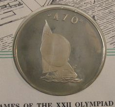 ($19.95) Pnc 1980 Moscow Olympics First Day Cover Stamp & Silver Medal 470 Sailing Dinghy http://ebay.to/1oQFh2l