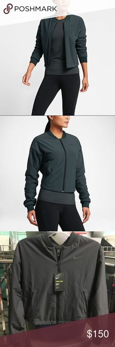 Nike AeroLeather Training Jacket Super trendy athletic jacket by Nike! Very soft comfortable material, new with tags! Women's size small appears to run true to size. Comments, questions, offers welcome💕 Nike Jackets & Coats