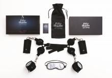 Fifty Shades of Grey Hard Limits Universal Restraint Kit. Transform your bed into a bondage playground and enjoy the fettered throes of lust in soft satin. Ideal for beginners, this bedroom bondage set can be used to create a full body restraint Hips And Curves, Kit, Google Plus, Shops, Grey Bedding, Luxury Bedding, Bedding Sets, Christian Grey, Fifty Shades Of Grey