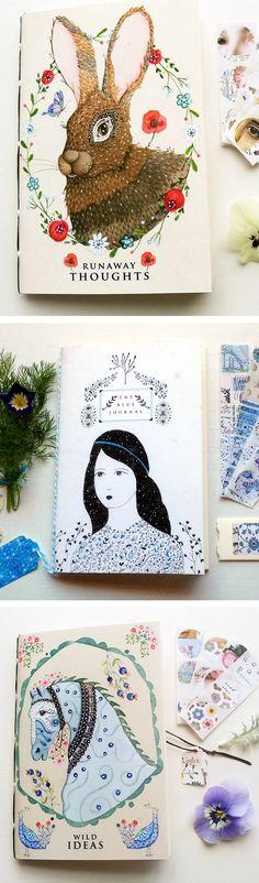 Art journals by Lily Moon // sketchbooks // beautiful notebooks // bullet journal