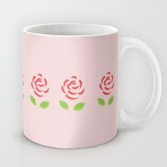 Red Roses Mug by Katayoon Photography & Designs  #flower #feminie #red #pink #rose #mother #pretty #girly  Use this link for free shipping through May 14 http://society6.com/KatayoonPhotography?promo=e3ff57