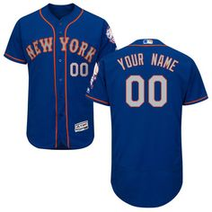 Men's New York Mets Majestic Royal Flexbase Authentic Collection Custom Jersey