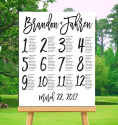 Wedding Seating Chart Printable Alphabetical by LovePrintsDesignCo