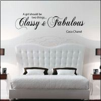 Coco Chanel Wall Stickers - Of getting paint all over your fingers, clothing, children and the days are over - . Vinyl Wall Decals, Wall Stickers, Chanel Wall Art, Classy And Fabulous, Bedroom Storage, Coco Chanel, Bed Pillows, Pillow Cases, Home Decor