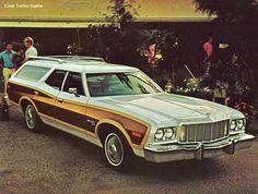 Ford Gran Torino Squire Station Wagon 400 Cruise-O-Matic Ford Torino, American Classic Cars, Ford Classic Cars, Classic Auto, Station Wagon, Retro Cars, Vintage Cars, Pontiac Lemans, Pontiac Cars