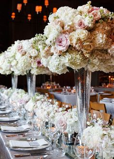Romantic Pink + white tablescape