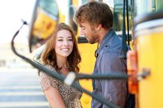 engagement photos by a school bus - Google Search