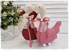 Niedliche Gans im Landhaus-Stil*Leinen*rot von Little Charmingbelle auf DaWanda.com