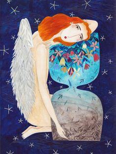 ÁNGELES – Kürti Andrea #time #illustration #angels #kürtiandrea