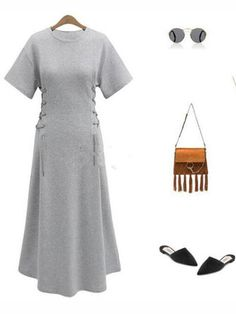 Mori Girl Long Sleeve V-Neck Printed High Waist Maxi Swing Dress - White  Casual Empire Waist Dresses a67dd927299d