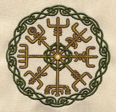 """NN Vegvisir - The Icelandic word literally means 'guidepost': It is a Norse protection symbol, intended to help the bearer find their way through bad weather. """"if this sign is carried, one will never lose one's way… even when the way is not known"""" Norse Tattoo, Viking Tattoos, Ancient Vikings, Norse Vikings, Norse Protection Symbol, Images Viking, Image Nice, Viking Embroidery, Symbole Viking"""
