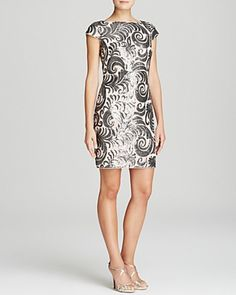 Adrianna Papell Petites Dress - Cap Sleeve Sheath | Bloomingdale's