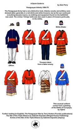 Triple Alliance, Armed Conflict, Military History, Military Art, White Trousers, American War, Red Shirt, Army, Latin America