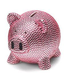 Trumpette Rhinestone Piggy Bank   Bloomingdale's