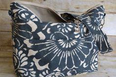 DSLR Camera Bag  / Blue batik tropical floral /  Camera Bag  Dslr / womens camera purse / Padded / by Darby Mack