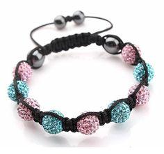 Shamballa Bracelet10MM Disco Magnetite Purple/ White by Youchic, $10.00