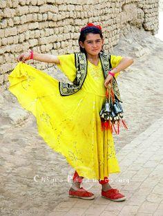 Uigur girl, Kashgar