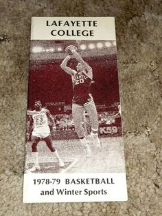 Vintage 1978-79 Lafayette College Basketball and Winter Sports Media Guide PA