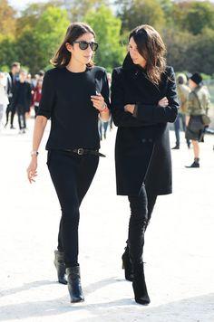 Capucine Safyurtlu (L) and fashion editor/stylist Géraldine Saglio