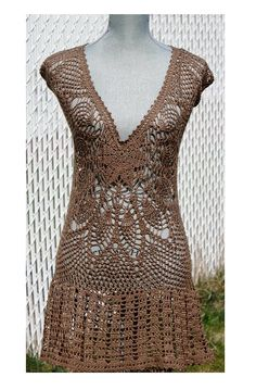 Crochet summer dress original design