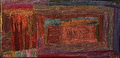 Tommy Mitchell, Wakalpuka, 2010, acrylic on canvas, 76.2 x 152.4 cm. Aboriginal and Pacific Arts, Sydney.