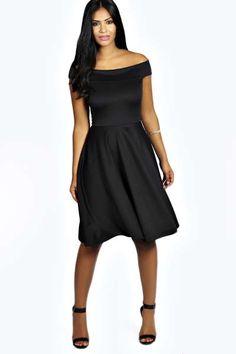 Kim Off The Shoulder Midi Dress at boohoo.com