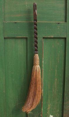 Shamrock Cottage: ~ Green door with besom. Brooms And Brushes, Whisk Broom, Irish Cottage, Irish Girls, Irish Blessing, Irish Eyes, Luck Of The Irish, Kitchen Witch, Green Gables