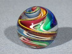 Marbles: Hand Made Art Glass James Alloway Dichroic Marble #1720 1.1 inch