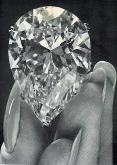 """Taylor-Burton Diamond  Diamonds have no mercy... """"They will show up the wearer if they can,"""" says one character in The Sandcastle, an early novel by the famous British author, Iris Murdoch. Burton And Taylor, Elizabeth Taylor Jewelry, Hollywood Icons, Pear Shaped Diamond, Pear Diamond, Crown Jewels, Gems And Minerals, Diamond Are A Girls Best Friend, Diamond Jewelry"""
