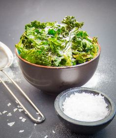 Sweet and Salty Kale Chips - a quick, simple and skinny snack at 116 calories per serving