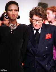 Yves Saint Laurent's far-reaching impact on the industry extends even into the world of modeling. He was one of the first couturiers to use black models in his shows and he supported and promoted the hiring of these models throughout the industry. It was risky in 1960's Paris and through much of the West but he succeeded and never succumbed to outside pressures to stop using girls of color.