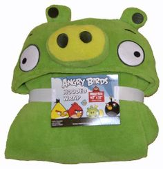 PIGGY! Jax's favorite! Angry Birds Green Pig Hooded Fleece Wrap Blanket by Angry Birds, http://www.amazon.com/dp/B00860U7K4/ref=cm_sw_r_pi_dp_zHp6qb04FVSFV
