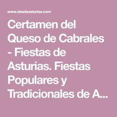 Certamen del Queso de Cabrales - Fiestas de Asturias. Fiestas Populares y Tradicionales de Asturias. | Eventos y fiestas de Asturias | desdeasturias.com