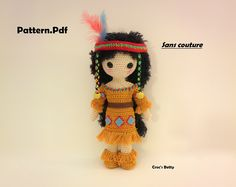 Pattern [EN-FR-NL] - Craquotine, Native Indian, by Croc's Betty