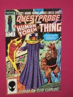 Questprobe #3, Marvel Comic Book - 1985 - Human Torch, Thing, She-Hulk   eBay