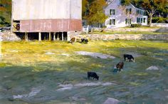 Rocky Pasture - Skip Whitcomb. Skip nails any subject in pastel or in oil.  Art Superhero.