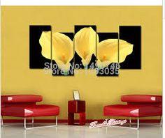 Resultado de imagen de cuadros modernos amarillos