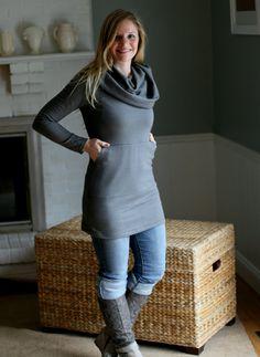 Pocket Dress/Tunic organic cotton fleece by Marsilia21 on Etsy, $149.00