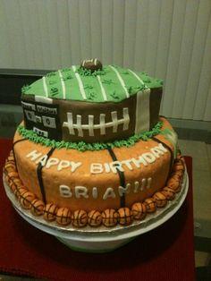Foot ball/ basket ball cake