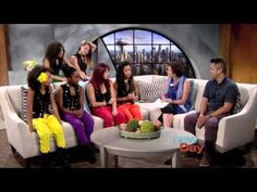 Charlize Glass dancing with 8 Flavahz on New Day