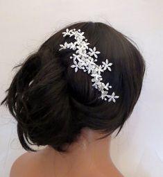 Bridal hair vine Wedding headpiece Swarovski by TheExquisiteBride